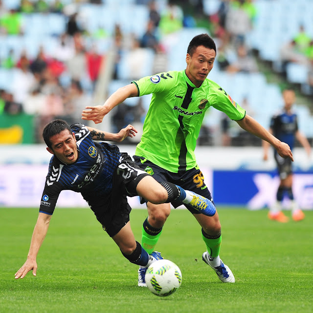 Kim Shin-wook struggled to take a number of decent chances during Jeonbuk Hyundai Motors' goalless draw against Incheon United  (Photo Credit: Hyundai-MotorsFC.com)