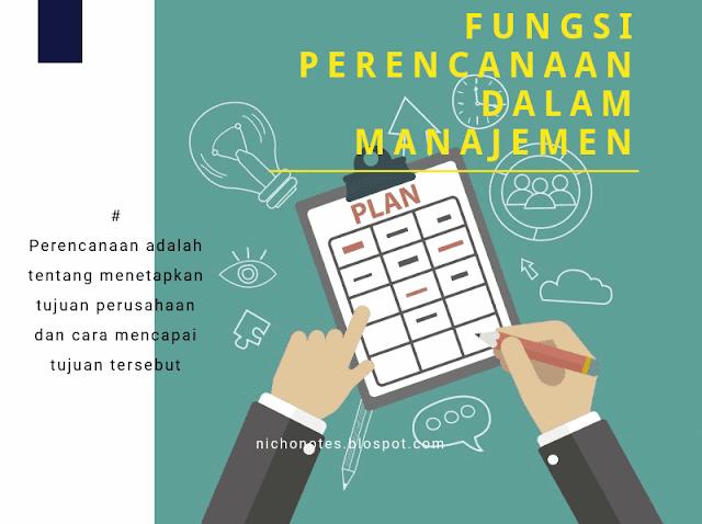fungsi manajemen perencanaan