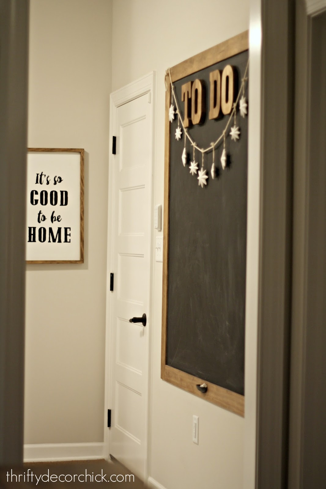 diy home designs. DIY chalkboard on wall Thrifty Decor Chick