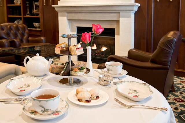 Afternoon Tea is served in the cozy lobby