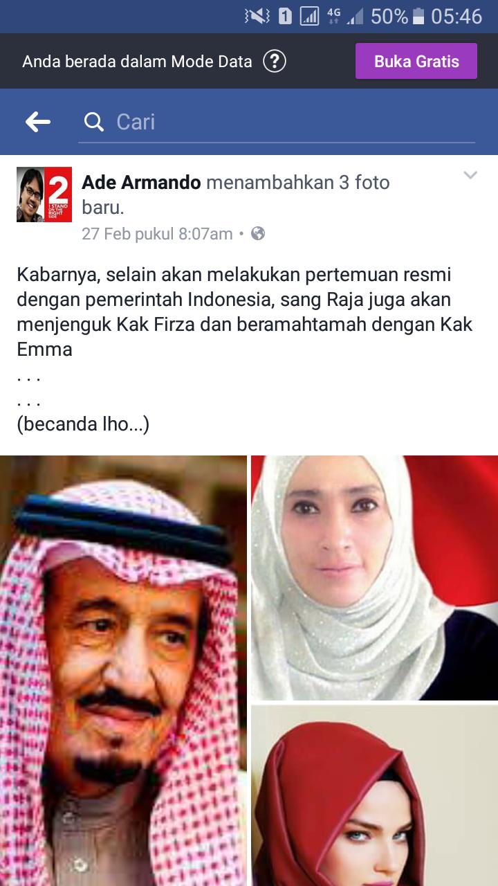 Tak Kunjung Tobat, Ade Armando Kini Lecehkan Raja Salman