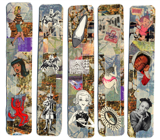 collaged bookmarks
