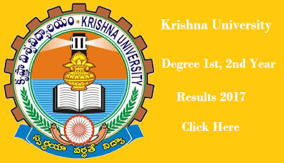 manabadi krishna university degree results 2017 1st, 2nd year