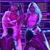 Nicki Minaj and Ariana Grande simulate oral sex act during VMA peformance (photos/video)