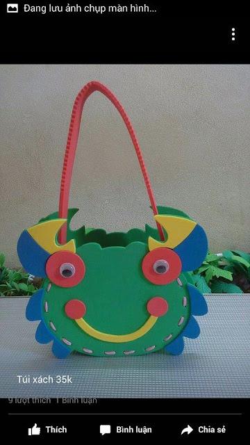 Ide membuat tas menggunakan bahan dasar foam  berbentuk kepiting