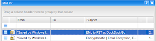 print .eml files from maillist