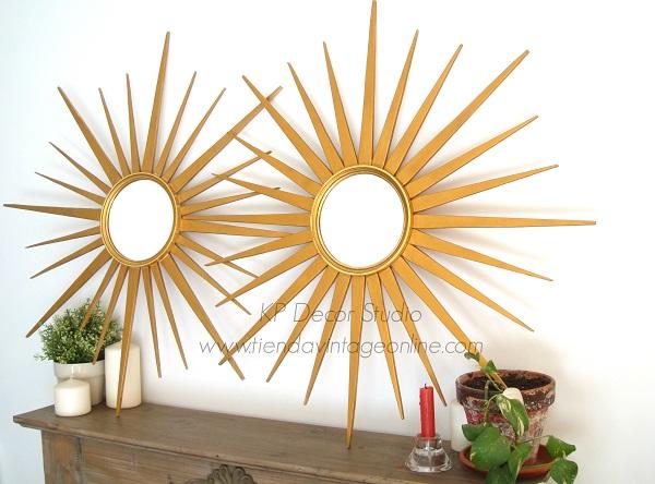 Comprar espejos dorados de madera antiguos