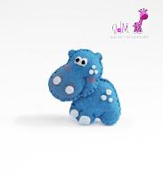 hipopótamo-fieltro