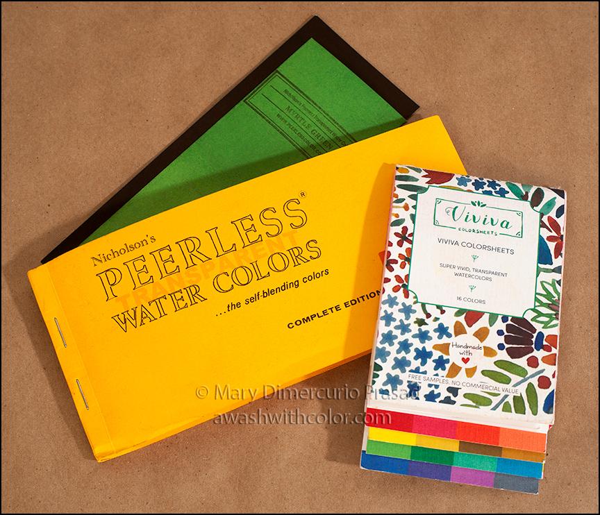 reviewcomparison viviva colorsheets and peerless watercolors - Colorsheets