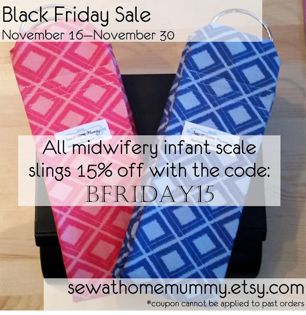 #infant #midwifery scale slings, slings for weighing newborns | for doulas, midwives, midwifery students, new moms | sewathomemummy.etsy.com | Black Friday SALE 15% Off