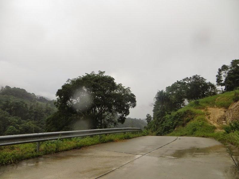 Дорога во время дождя