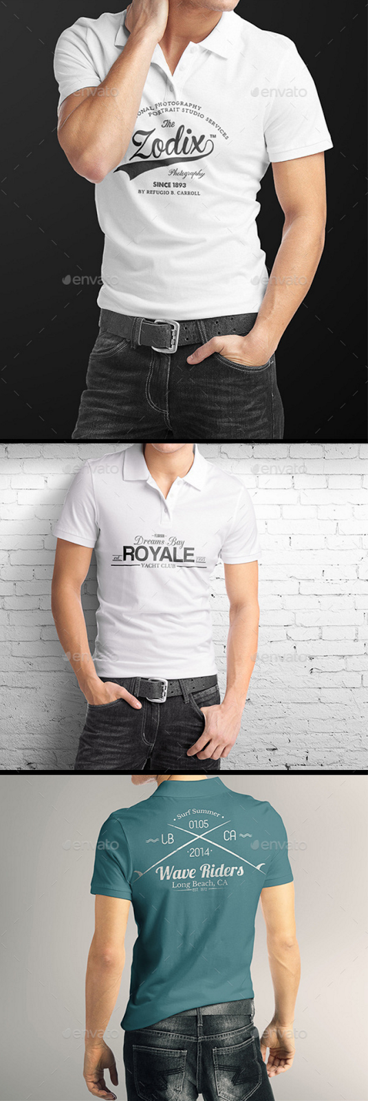 13. Man Polo Shirt Mockup