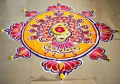 Rangoli Flower Designs For Competition
