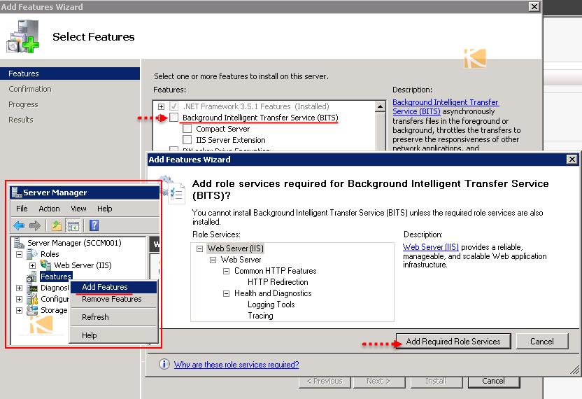 vGeek: Resolved SCCM 2012 R2 - BITs Installed/Enabled
