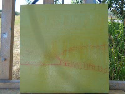 alberta landscape no. 2017-3 initial sketch