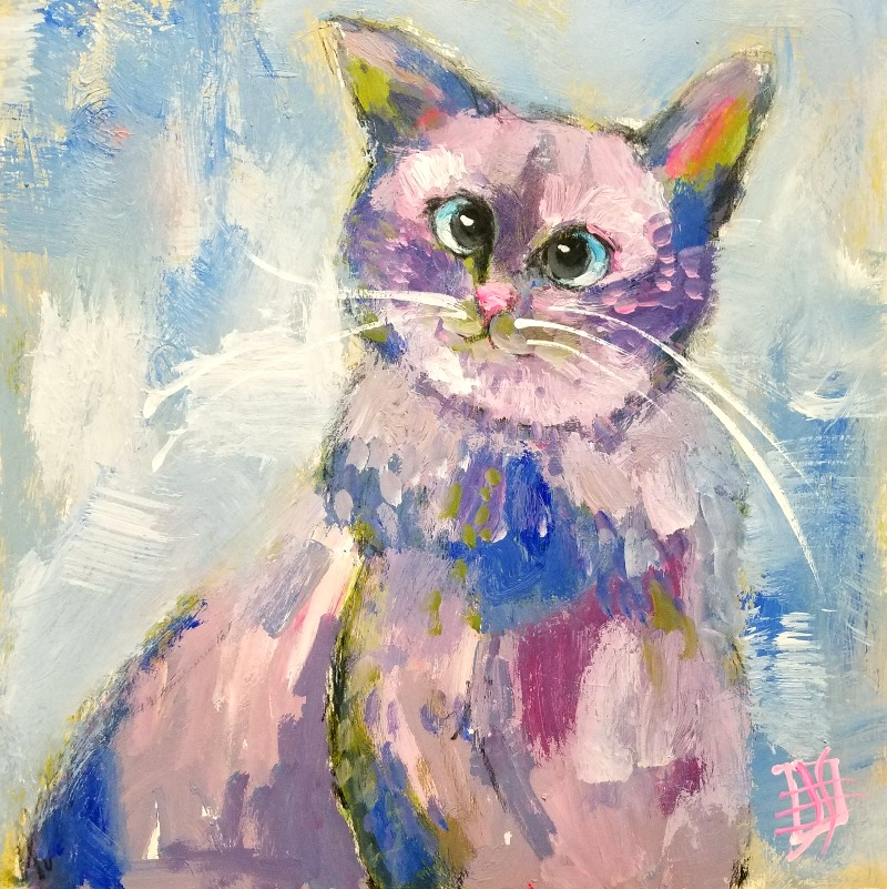 CAT #14 by Joanie Springer 30 Cats in 30 Days