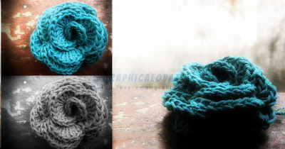 rose crochet flower