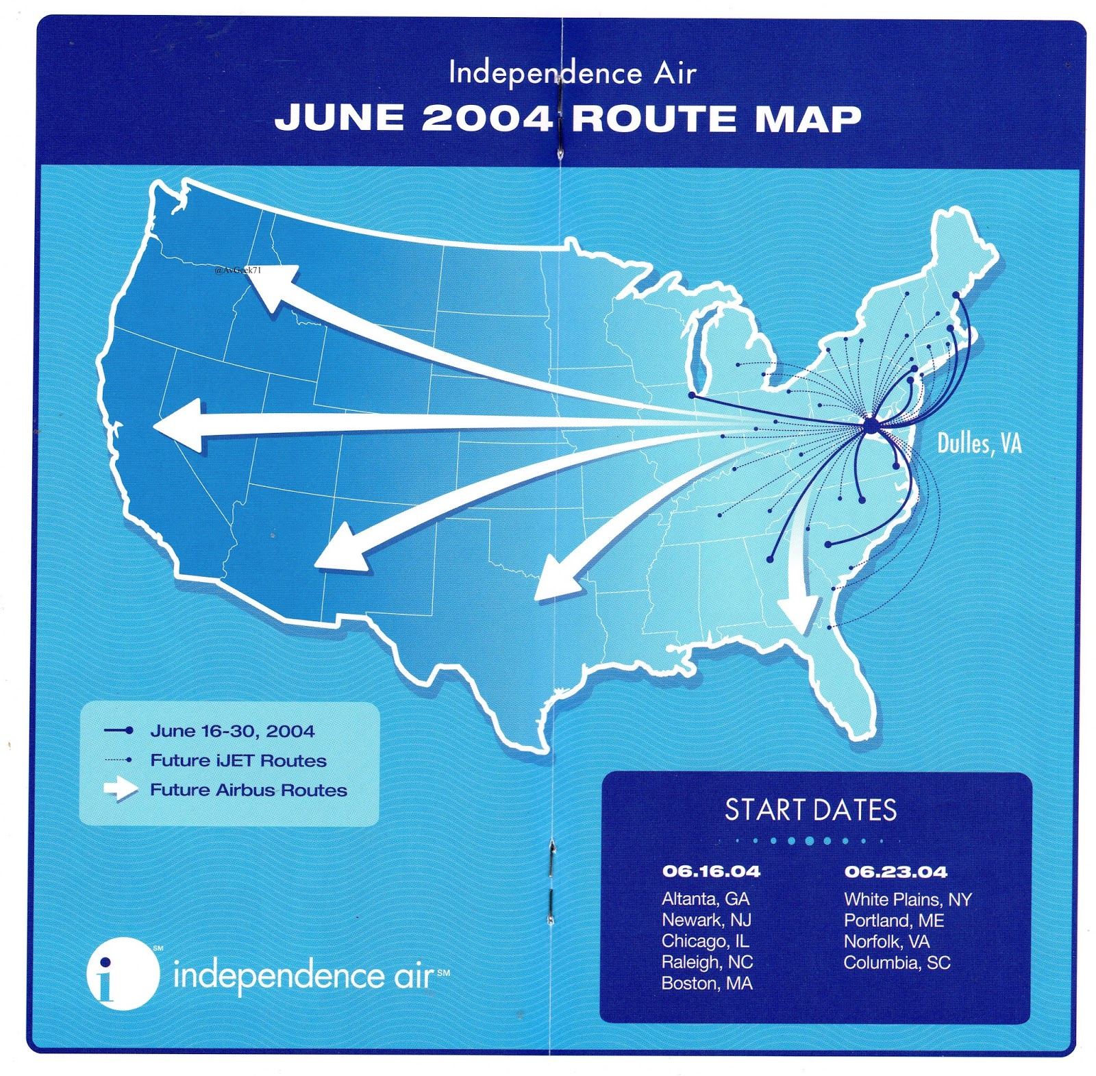Airline Timetables: Independence Air - June, 2004 on capital airlines route map, austrian airlines route map, saudi arabian airlines route map, trump shuttle route map, korean airlines route map, ted route map, solomon airlines route map, southwest route map, spirit airlines route map, asiana route map, malaysia airlines route map, republic airlines route map, jet airways route map, northwest route map, luxair route map, canjet route map, swiss route map, liat route map, united route map,