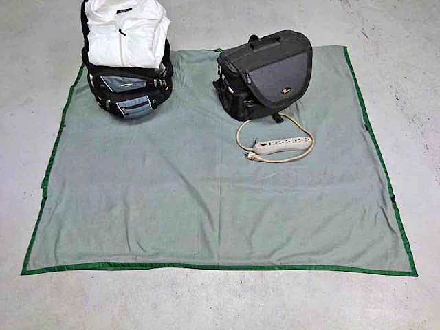 backpack, jacket, camera bag