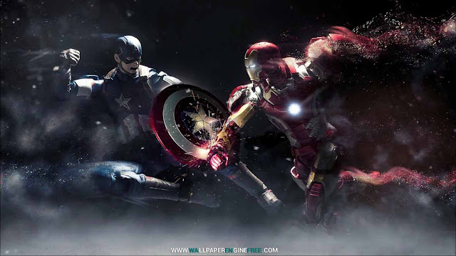 Captain America vs Iron Man (1080P) Wallpaper Engine