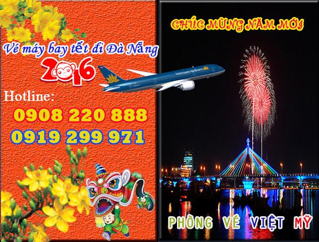 Vé máy bay tết 2016 đi Đà Nẵng giá rẻ