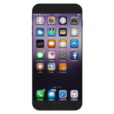 iOS 9 Gradience is very nice theme for your device which looks like stock iOS 9 and features two themes, classic blur icons, images, signal bar, settings app and more.