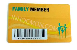thẻ nhựa thành viên