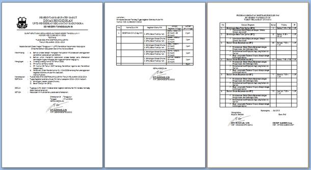 Contoh SK dan Program Kegiatan Ekstrakurikuler PAI (Pendidikan Agama Islam)