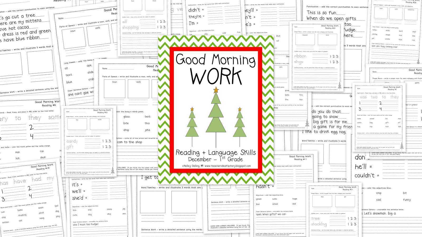 GOOD MORNING WORK - READING + TESTER PAGES - Teacher Idea