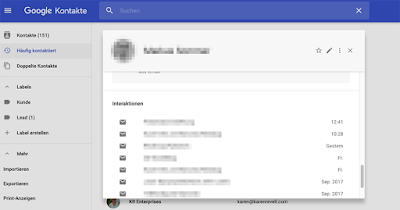 Google Contacts als CRM Tool