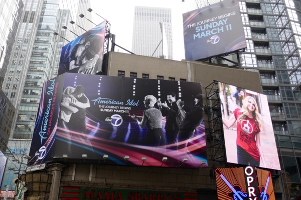 American Idol season 16 billboards NYC