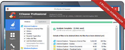 Download CCleaner for free of charge - the world's leading Computer Cleanser and Marketing Tool