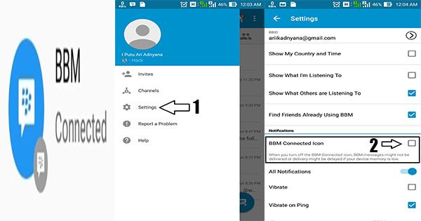 Cara Menghilangkan Icon BBM Terhubung Di Android