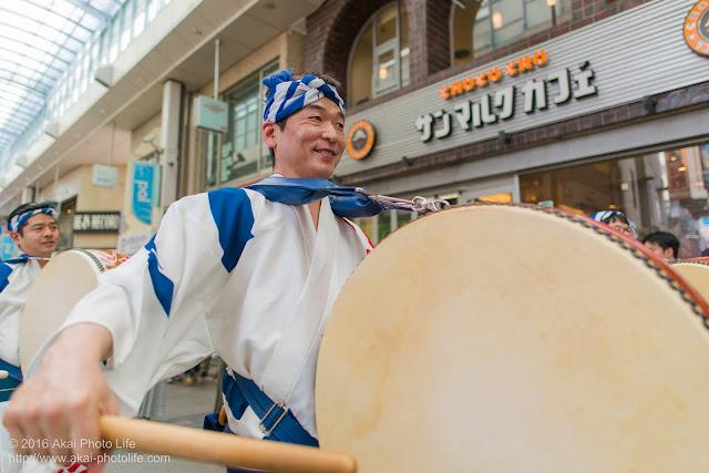 高円寺パル商店街、いろは連の鳴り物の写真 1