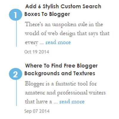 11 Bellissimi widget degli Ultimi Post con Miniature per Blogger completamente personalizzabili.