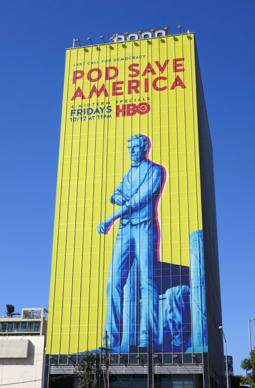 Giant Pod Save America HBO billboard