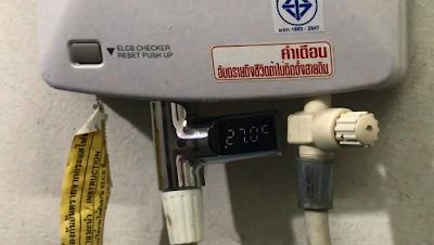 เครื่องวัดอุณหภูมิน้ำมินิ ไม่ใช้ไฟฟ้า