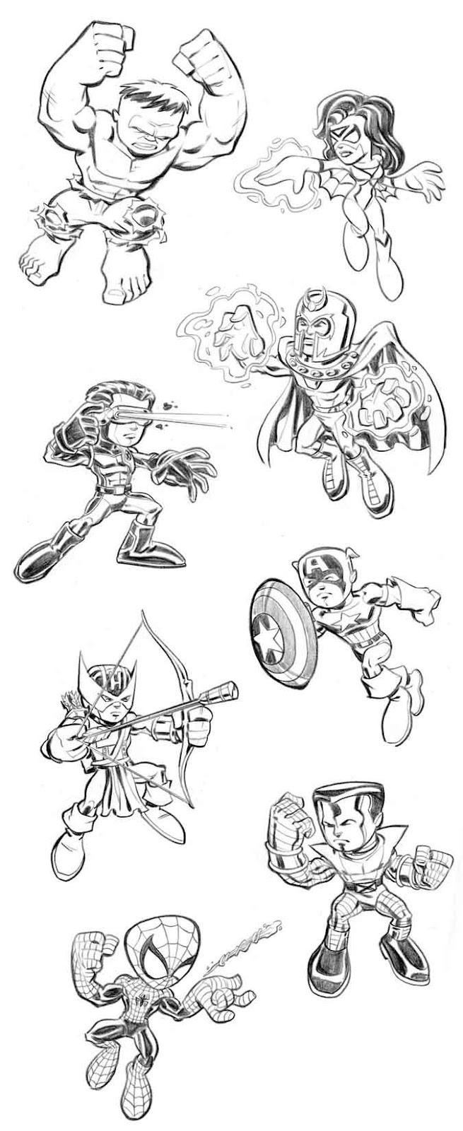 Desenhos Dos Vingadores Para Colorir
