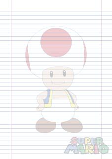 Folha Papel Pautado Toad em PDF para imprimir folha A4