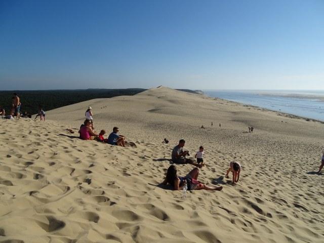 duna pilat, cielo mar bosque y arena france francia
