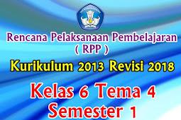 Perangkat RPP Kelas 6 Tema 4 Semester 1 K13 Revisi 2018