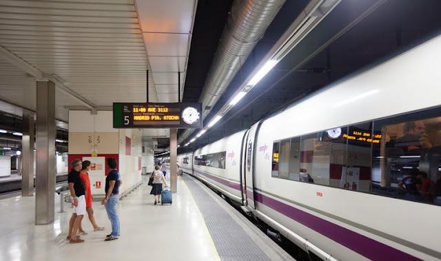 Viajar de trem em Barcelona