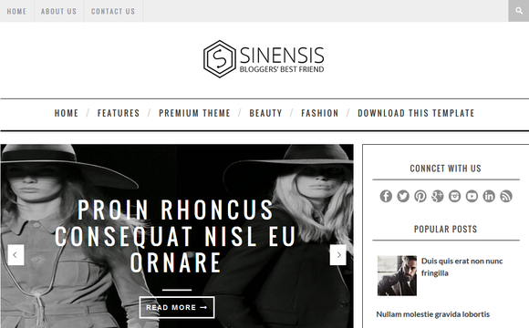 Sinensis Blogger Template