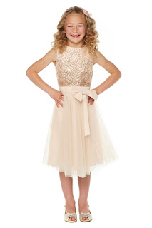 Little Misdress Sequin Detail Dress With Bow