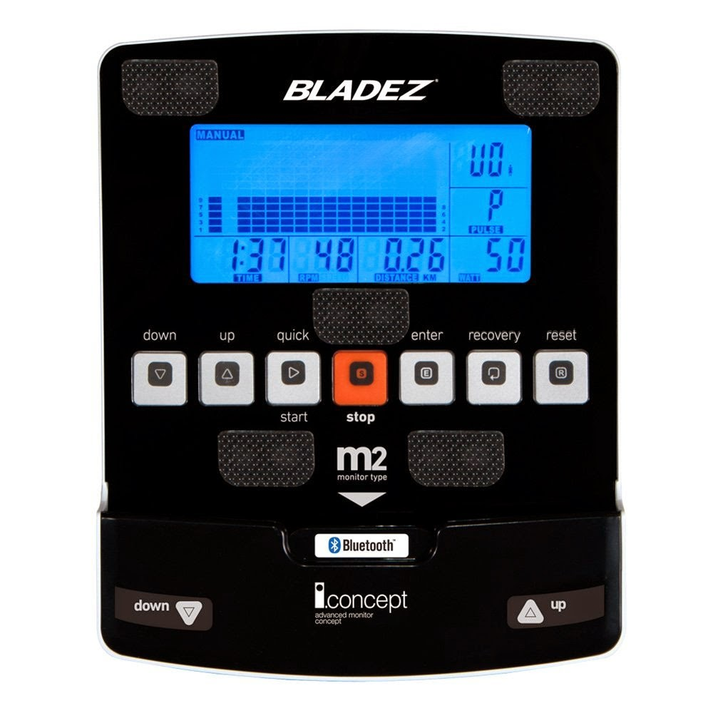 Bladez Fitness R500i blue backlit LCD display