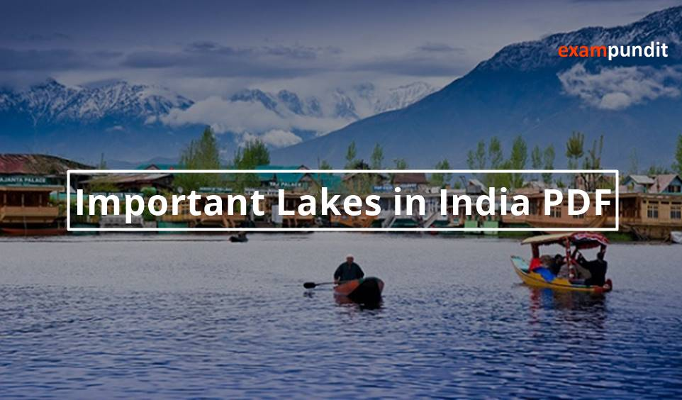 Important Lakes in India PDF - Exampundit in
