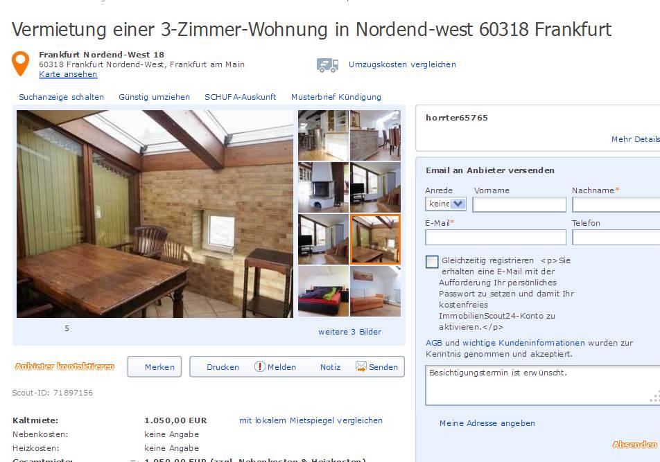 horrter65765 vermietung einer 3 zimmer wohnung in nordend west. Black Bedroom Furniture Sets. Home Design Ideas