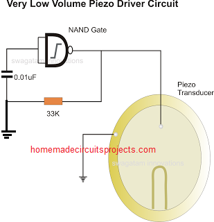 Simplest Piezo Driver Circuits