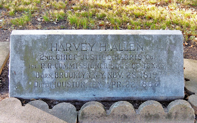 Harvey H. Allen - 2nd Chief Justice Harris Co. (1819-1867) Grave Marker