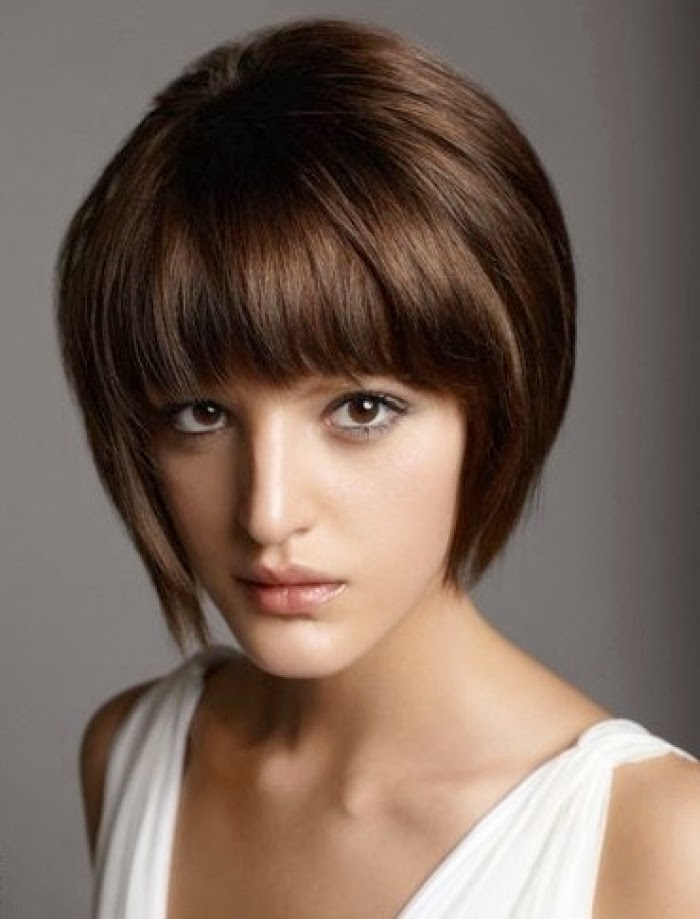 Short Stacked Hair Style For Women At New Year 2014 Wfwomen